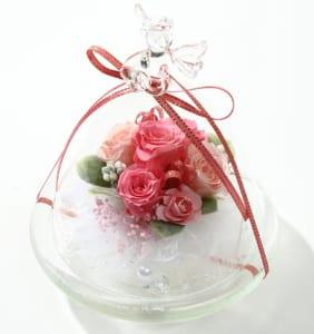 エンジェルガラスドーム プリザーブドフラワー
