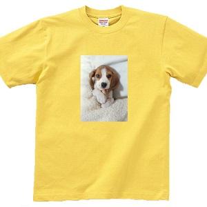【Mサイズ】 ペットや思い出の写真で作る♪オリジナルTシャツ by Tシャツの時間
