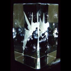 名入れ対応 3Dクリスタルアート ティンカーベル