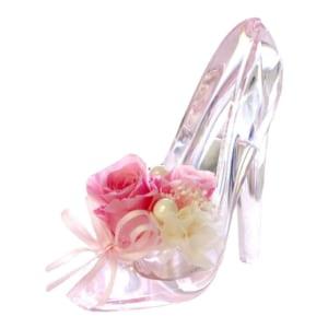 【選べるカラー】気品あるシンデレラの靴×プリザーブドフラワー