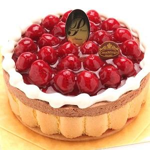 最高級洋菓子 ヴァルトベーレ木苺チョコレートケーキ15cm 【記念日プレート付】 by 洋菓子店カサミンゴー