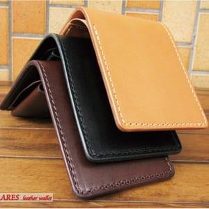 アレス栃木レザーサドル二つ折り財布 メンズ プレゼント