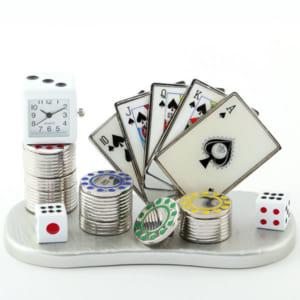 ミニチュアクロック カジノ型