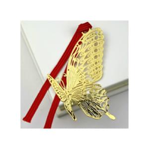 東洋精密工業 金のしおり 蝶 ※紐の色はランダムとなります。