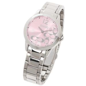 コーチ COACH 時計 腕時計 コーチ 腕時計 レディース COACH 14501617 クラシックシグネチャー 腕時計 ウォッチ ピンク/シルバー by ブランドショップAXES(日本流通自主管理協会会員)