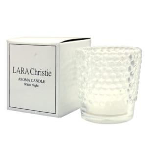 LARA Christie (ララクリスティー) アロマ キャンドル White Night by ジュエリー王国