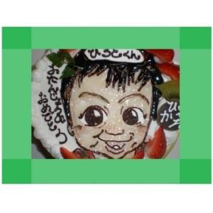 ☆似顔絵ケーキ5号☆ 【直径15cm・3~4人様用】 小さめのファミリータイプ!