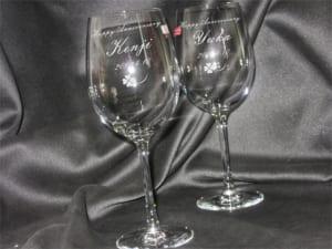 名入りペアワイングラス(名入れ彫刻)クリスタルグラス by ORIGINAL GIFT ARTONE