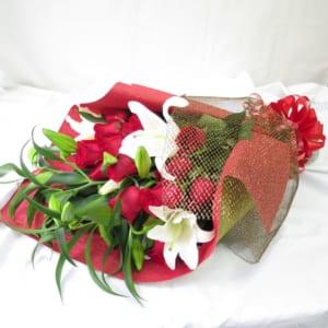 カサブランカ と バラ 花束 ギフト