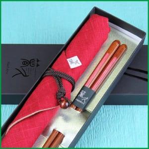 和紙貼り「ねがい」先角 箸袋(紺・赤)セット