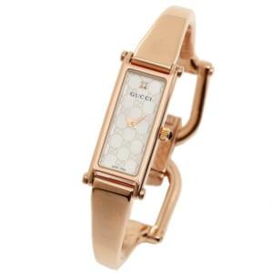 グッチ GUCCI 時計 腕時計 グッチ 時計 レディース GUCCI 1500シリーズ 腕時計 YA015560 ウォッチ ホワイトパール/ピンクゴールド by ブランドショップAXES(日本流通自主管理協会会員)
