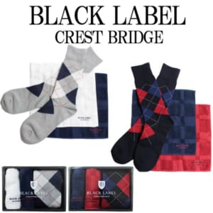 クレストブリッジ ブラックレーベル ハンカチ 靴下 セット タオル ミニギフト ソックス 51U-30-890 by コレカラスタイル Corekara Style