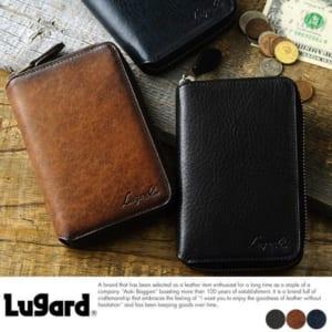 本革製二つ折り財布
