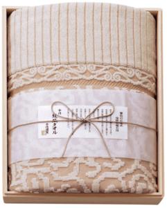 今治来島海峡波文様 紋織タオル 今治謹製 タオルケット1P ピンク