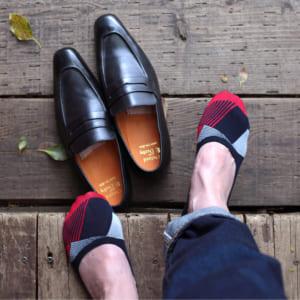 London Shoe Make THE SOCKS| No,118905 数学者/Mathmatician 滑り止め付き メンズカバーソックス 靴下 日本製 by London Shoe Make Shop