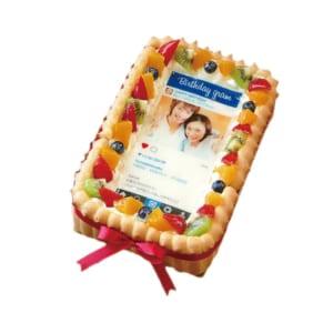 インスタグラム風フレームの写真ケーキ