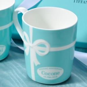 ティファニー TIFFANY&Co マグカップ ブルーリボン