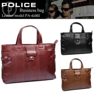 POLICE ポリス ビジネスバッグ レザー 牛革 PA-61002 バッグ かばん ブランド by CAMERON