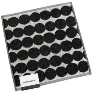 マリメッコ ハンカチ MARIMEKKO 068762 190 ラシィマット RASYMATTO メンズ/レディース ミニタオル WHITE/BLACK 黒 by ブランドショップAXES(日本流通自主管理協会会員)