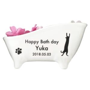 名入れ猫足バスタブ陶器付き入浴剤