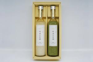 吟香の甘酒 ノンアルコール 2種『白米・抹茶』ギフトセット