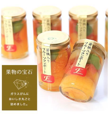 若桃入 フルーツミックスコンポート200g×6本入 by ギフト通販専門店 紀州ふみこ農園
