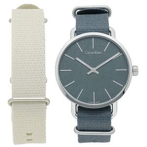 カルバンクライン 時計 CALVIN KLEIN K7B211.WL イーブン 42MM 替えベルト付き メンズ腕時計 ウォッチ ブルーグレー by ブランドショップAXES(日本流通自主管理協会会員)