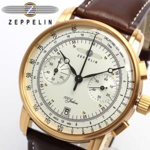 【送料無料】【ツェッペリン】【Zeppelin】 100周年 限定モデル クロノグラフ メンズ腕時計 7672-1 MEN'S 男性用 ウォッチ 本革レザー ギフト by CAMERON