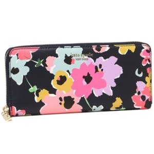 ケイトスペード 花柄 長財布