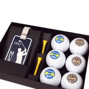 名入れゴルフボール(6個)&ネームタグギフトセット 【名入れゴルフボール】【オリジナルネームタグ】【名入れ】【父の日】【誕生日】【敬老の日】 by Belle Vie