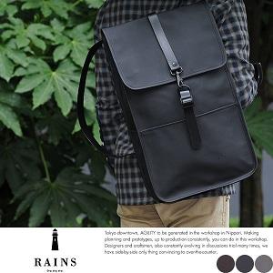 RAINS 防水スクエアリュック /男性用/メンズ/リュックサック/防水/デイパック/B4/パソコン/雨用/雨に強い/鞄/かばん/バッグ/ by Lifeit(ライフイット)