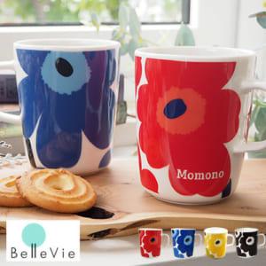 フラワーデザインのマグカップ