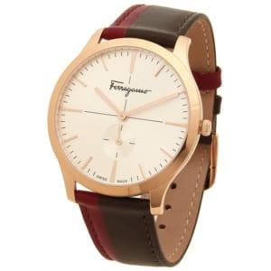 サルヴァトーレフェラガモ 時計 Salvatore Ferragamo SFDE00618 SLIM スリム 40MM レディース腕時計ウォッチ ブラウン/ピンクゴールド/ホワイト by ブランドショップAXES(日本流通自主管理協会会員)