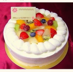 フルーツデコレーションケーキ 6号