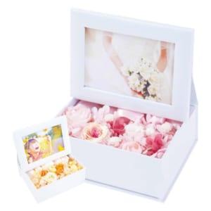 プリザーブドフラワー 写真立て 『photo flower box フォトフラワーボックス』 誕生日 結婚祝い 母の日 フォトフレーム ブリザードフラワー プレゼント ギフト 贈り物 送料無料 by プリザーブドフラワー ギフト Ruplan