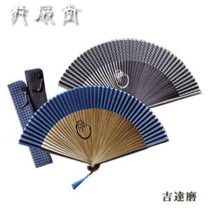 【男性用扇子】吉達磨(きちだるま)扇子袋セット(2色・桐箱入り)