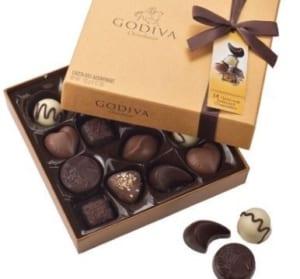ゴディバのチョコレートアソート