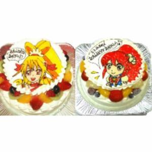イラスト生クリームデコレーションケーキ5号