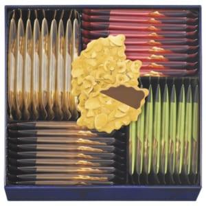 モロゾフ ファヤージュ クッキー(アーモンド&ミルクチョコレート ・アーモンド&ホワイトチョコレート ・ヘーゼル&ミルクチョコレート ・ヘーゼル&スイートチョコレート) 内祝い 御祝い 引越し祝い 転居祝い 開店祝い 就職祝い by EMBLEM