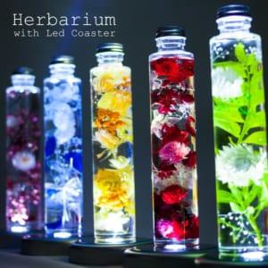 ハーバリウム led 『herbarium ハーバリウム with Led Coaster』 誕生日 結婚祝い 母の日 プリザーブドフラワー プレゼント ギフト 贈り物 送料無料 by プリザーブドフラワー ギフト Ruplan