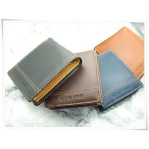 【名入れ】牛革二つ折り財布★ビジネスマン定番アイテム