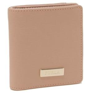 フルラ メタルプレート付き二つ折り財布