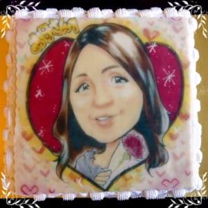 プロの似顔絵師によるイラストケーキ スクエア ❤ 4号~12号 by 菓子工房Citoron-Praline