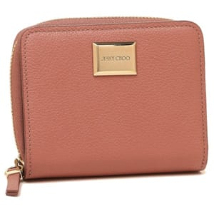 ジミーチュウ メタルプレート付き二つ折り財布