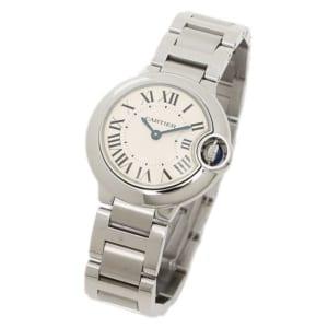 カルティエ 時計 レディース CARTIER W69010Z4 バロンブルー SS 腕時計 ウォッチ シルバー/ホワイト by ブランドショップAXES(日本流通自主管理協会会員)