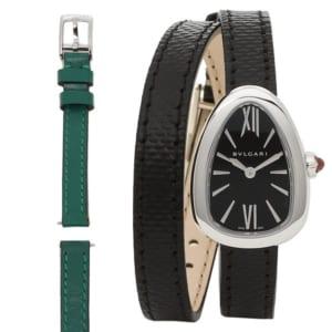 ブルガリ 時計 BVLGARI SPS27BSL セルペンティ 50M防水 レディース腕時計ウォッチ ブラック/シルバー by ブランドショップAXES(日本流通自主管理協会会員)