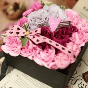 《花の宝石箱》箱を開けてビックリ!! サプライズに最適