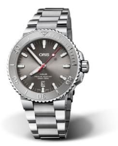 正規品 ORIS オリス 01 733 7730 4153-07 8 24 05PEB アクイス デイト レリーフ 腕時計 by 時計館