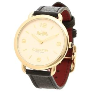 コーチ 時計 レディース COACH 14502998 DELANCEY SLIM デランシースリム レディース腕時計ウォッチ ブラック/イエローゴールド by ブランドショップAXES(日本流通自主管理協会会員)
