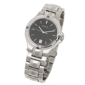 グッチ GUCCI 時計 腕時計 グッチ 時計 GUCCI 腕時計 YA090304 ブラック/シルバー メンズ/レディース 腕時計 ウォッチ by ブランドショップAXES(日本流通自主管理協会会員)